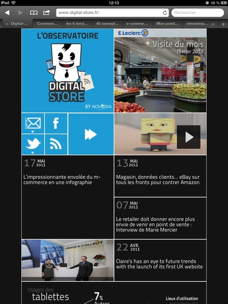 Digital-store : L'Observatoire de la digitalisation des points de vente by Novedia | La digitalisation des points de vente | Scoop.it