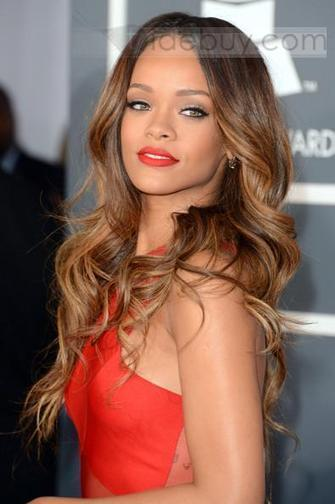 100%Human Hair Rihanna Grammy Hairstyle Sexy and Beautiful Lace Front Wig about 22inches Wave | expensiven | Scoop.it