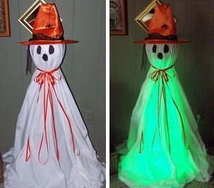 Craft Project: Bewitching Tomato Cage Ghost | Halloween & Spooky Fun Stuff~ | Scoop.it