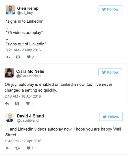 LinkedIn Adds Autoplay Video to the Dismay of Its Users | SocialMoMojo Web | Scoop.it