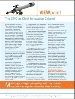 The Healthcare Marketer's Role inInnovation   healthcare technology   Scoop.it
