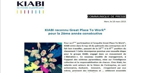 Kiabi great place to work | Dynamiques collaboratives | Scoop.it