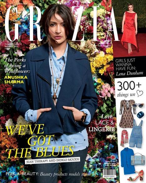 Anushka Sharma Charms Up On The Cover of Grazia India February 2015 | Bollywood News,Gossips,Photoshoots,Movie Reviews | Scoop.it