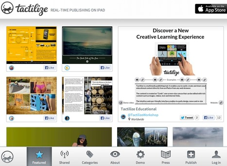Tactilize - the iPad user generated magazine | Content Creation, Curation, Management | Scoop.it
