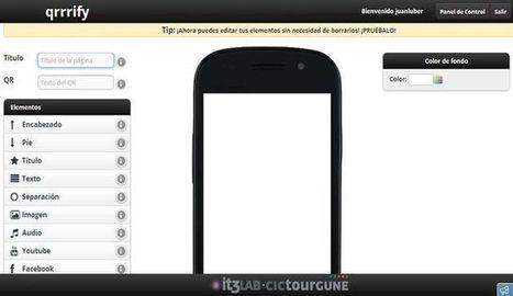 qrrrify, crea gratis páginas web para móviles sin tener que programar   Realidad Aumentada   Scoop.it