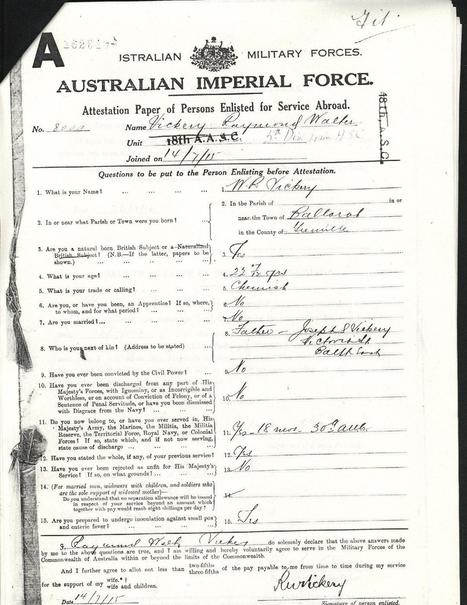 National Archives of Australia - war & immigration records | Y9 Family History | Scoop.it