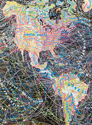 Paula Scher's Paintings of Distortions | visual data | Scoop.it