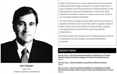 Dolby Family Launches Institutional Venture Fund  | TechCrunch | All Things Tech | Scoop.it