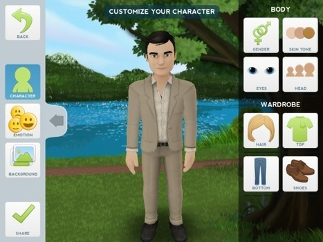 Tellagami - Create Narrated Animations on Your iPad | Reading | Scoop.it