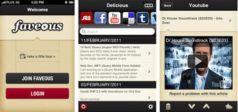 Faveous, le centralisateur de favoris, lance son application iPhone   SocialWebBusiness   Scoop.it