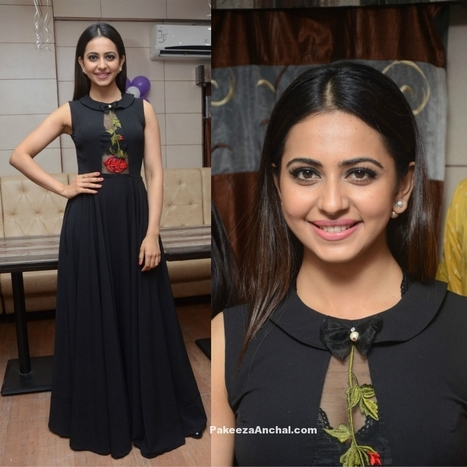 Rakul Preet Singh in Designer Black Gown with Embroidery | Indian Fashion Updates | Scoop.it