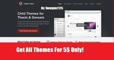 I will provide you THEMEDY themes for Thesis and Genesis for $5 on www.fiverr.com | Stuff You should Buy in $5 from Fiverr | Scoop.it