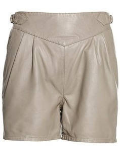 Belted High Waist Women Leather Short | Leather Apparels World-Wide | Scoop.it