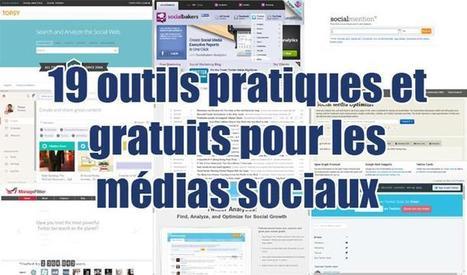 19 outils pratiques et gratuits pour les médias sociaux | Adviso | Tendances Médias sociaux | Scoop.it