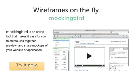 Website wireframes: Mockingbird | Educational Technology Tools and Tips | Scoop.it