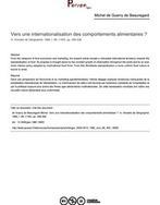 Vers une internationalisation des comportements alimentaires ? - article ; n°493 ; vol.89, pg 299-308 | éducation alimentaire | Scoop.it