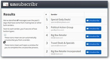 Unsubscribr   Easily unsubscribe from junk and bulk email   Ma boîte à outils   Scoop.it