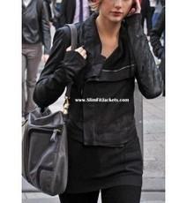 Taylor Swift Black Biker Leather Jacket | Designers Women Leather Jackets & Pants | Scoop.it