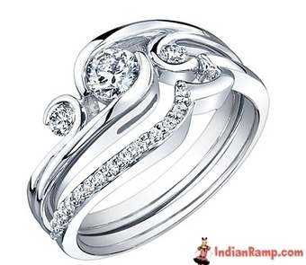 White Gold Engagement Rings, Designer Diamond, Carat Jewellery Rings | Indian Fashion Updates | Scoop.it