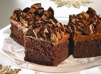 Peanut Butter Cup Crumble Cake | The Man With The Golden Tongs Hands Are In The Oven | Scoop.it