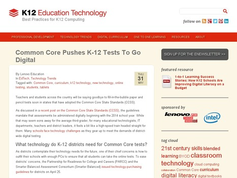 Common Core Pushes K-12 Tests To Go Digital | CCSS News Curated by Core2Class | Scoop.it