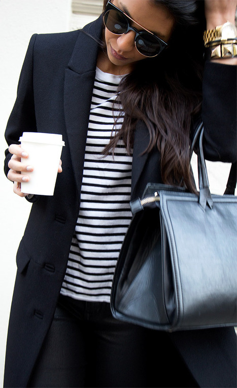 Pulling Off Black & White Stripes   Not Your Standard Looks   Scoop.it
