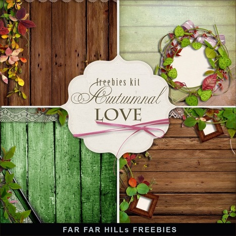 New Freebies Kit of Backgrounds - Autumnal Love | Free Digital Scraps | Scoop.it