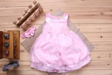Buy Online Baby Pink Net and Satin Infant Girl Dress In India | Online Baby Accessories | Scoop.it