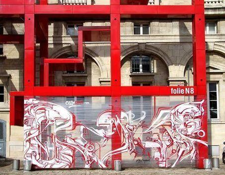 Le «cellograff», ou le street art version jetable | Arts et FLE | Scoop.it