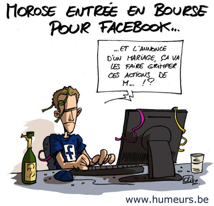 Quand Facebook s'essaie en bourse… | Baie d'humour | Scoop.it