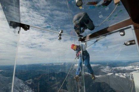 Inauguration ce week-end du pas dans le vide à l'aiguille du midi   Alpes   Scoop.it
