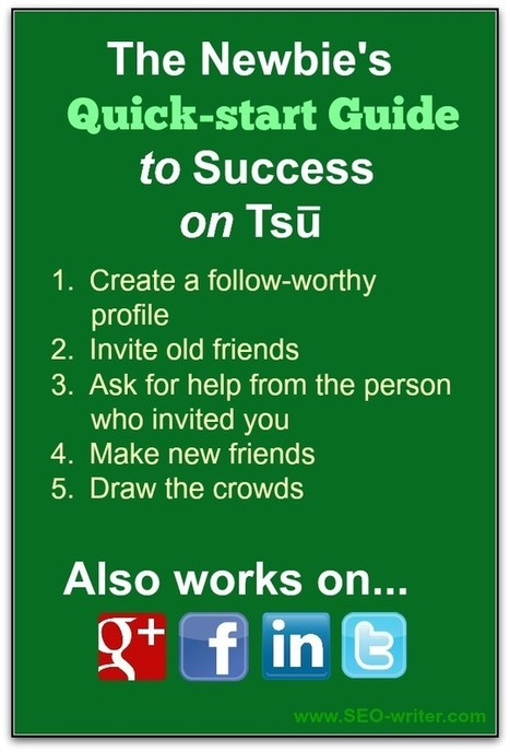 The Newbie's Quick-start Guide to Success on Tsu (or any other social network) | Social Media | Scoop.it