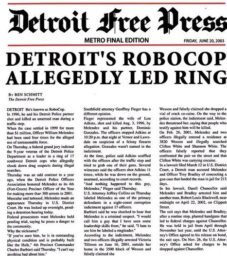 'ROBOCOP' MELENDEZ GUILTY OF 2 FELONIES, FACES 15 YRS; REMANDED TO JAIL IN FLOYD DENT BEATING | Exposing Corruption, Injustices, & The Good, the Bad & the Ugly | Scoop.it