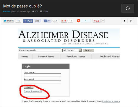 """Forgot Password ?"" in Alzheimer Disease 