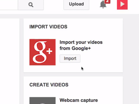 You can now import Google+ videos in YouTube | Social Media Bites! | Scoop.it