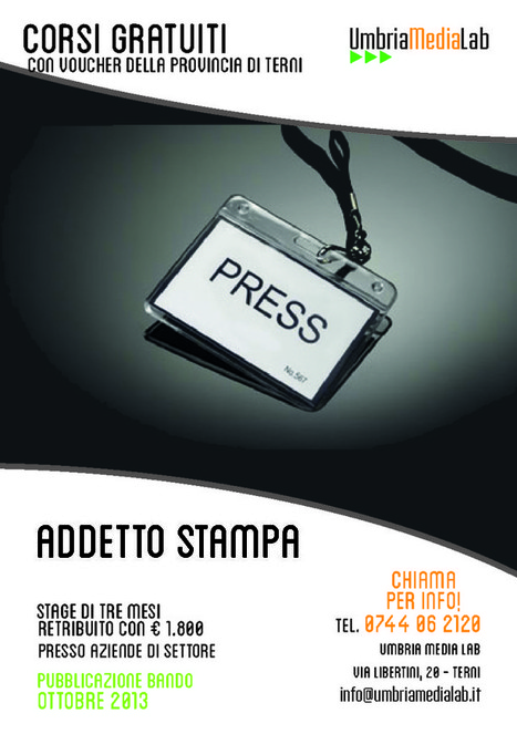 Corso di Addetto Stampa - Umbria Media Lab   Corsi di formazione a Terni   Scoop.it