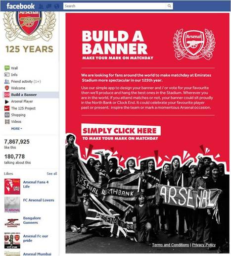 Arsenal's Official Facebook Page Has Been Created! | Media and Technology in sport | Scoop.it