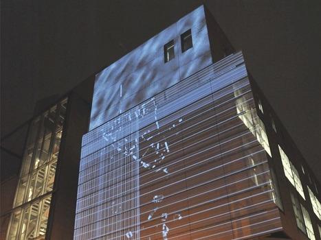 Projections sur la façade – Centre de Design | Espaces de diffusion sur écrans | Scoop.it