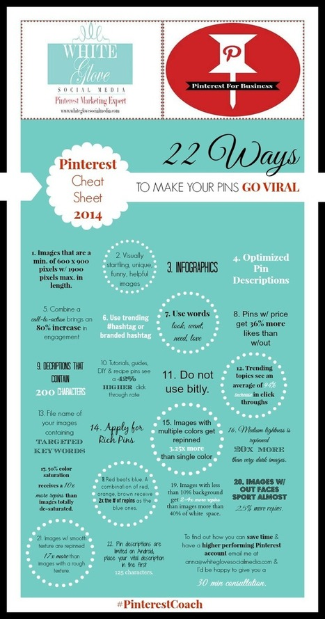 INFOGRAPHIC: 22 WAYS TO MAKE YOUR PINS GO VIRAL BASED ON RESEARCH | social media | Scoop.it