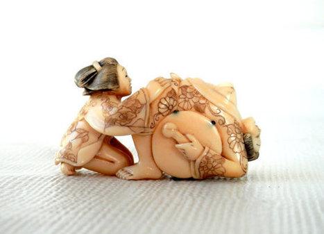 Pre-Ban Japanese Shunga Erotic Netsuke Lesbian Ivory Carving   Sex History   Scoop.it