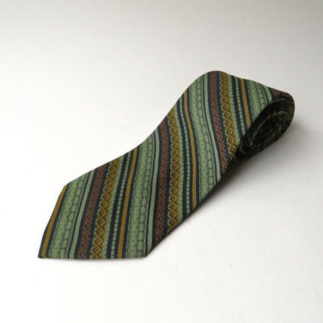 70s vintage Diagonal Striped and Patterned Tie | whats been spotted on etsy today? | Scoop.it