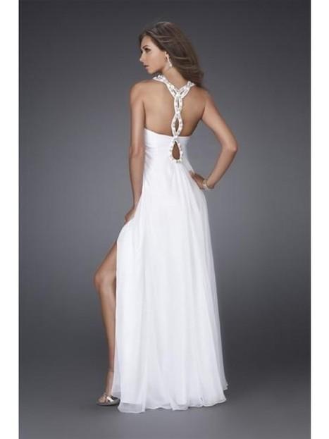 Good Sheath/Column Halter Floor-Length Chiffon Prom Dresses | Fashion Dresses | Scoop.it