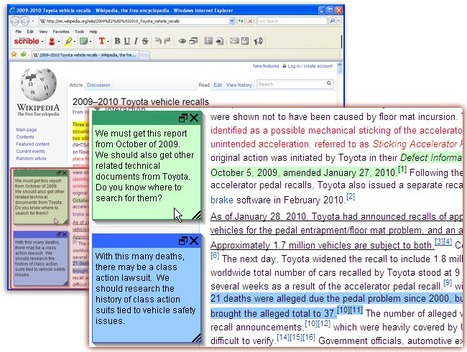scrible | smarter online research - annotate, organize & collaborate on web pages | Moodle and Web 2.0 | Scoop.it
