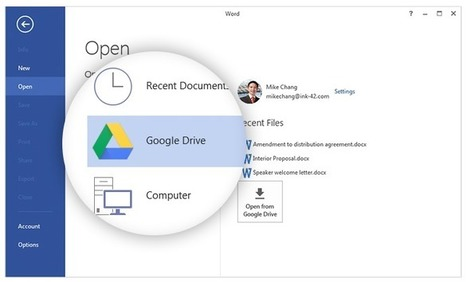 Google Drive plug-in for Microsoft Office - a new must extension for Google/Microsoft | Learning  and Libraries | Scoop.it