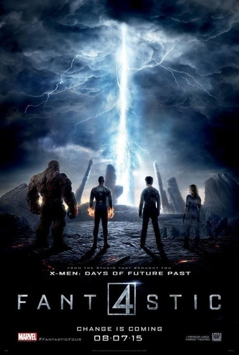 Les 4 Fantastiques : Un deuxième poster pour le reboot des 4 Fantastiques ! - Les Toiles Héroïques   Superheroes & Supervillains   Scoop.it
