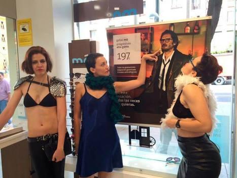 Feministas acuden a las tiendas de Multiópticas en lencería para denunciar la publicidad sexista | Genera Igualdad | Scoop.it