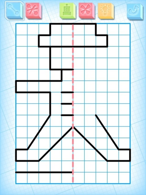 Draw Symmetrical Figures on iPads-Grid Drawing for Kids | Edtech PK-12 | Scoop.it
