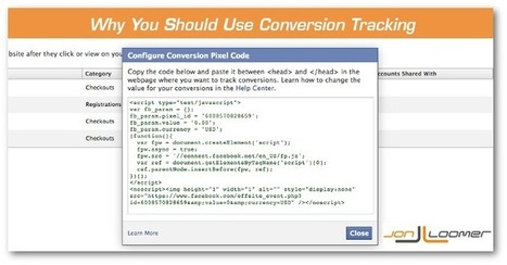 This is Why You Must Use Facebook Conversion Tracking [EXAMPLE] | Social Media Marketing Nuggets | Scoop.it