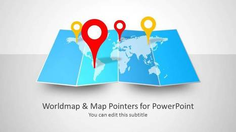 Worldmap & Map Pointers for PowerPoint - SlideModel | PowerPoint Presentation Library | Scoop.it