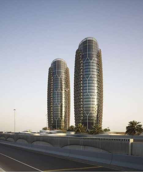 The Al Bahr Towers' Sustainable Geometric Façades React To Solar Rays | The Architecture of the City | Scoop.it